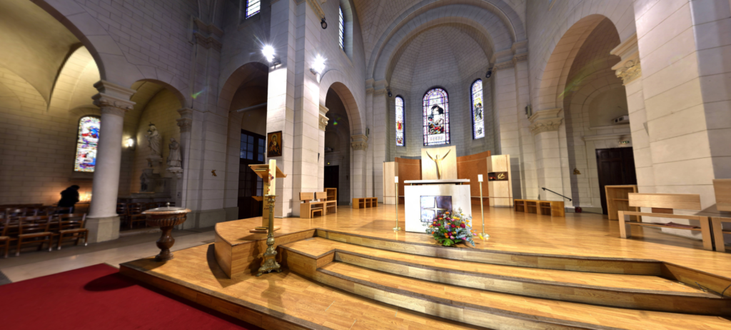 Visite 3D de l'Eglise Saint Justin à Levallois Perret